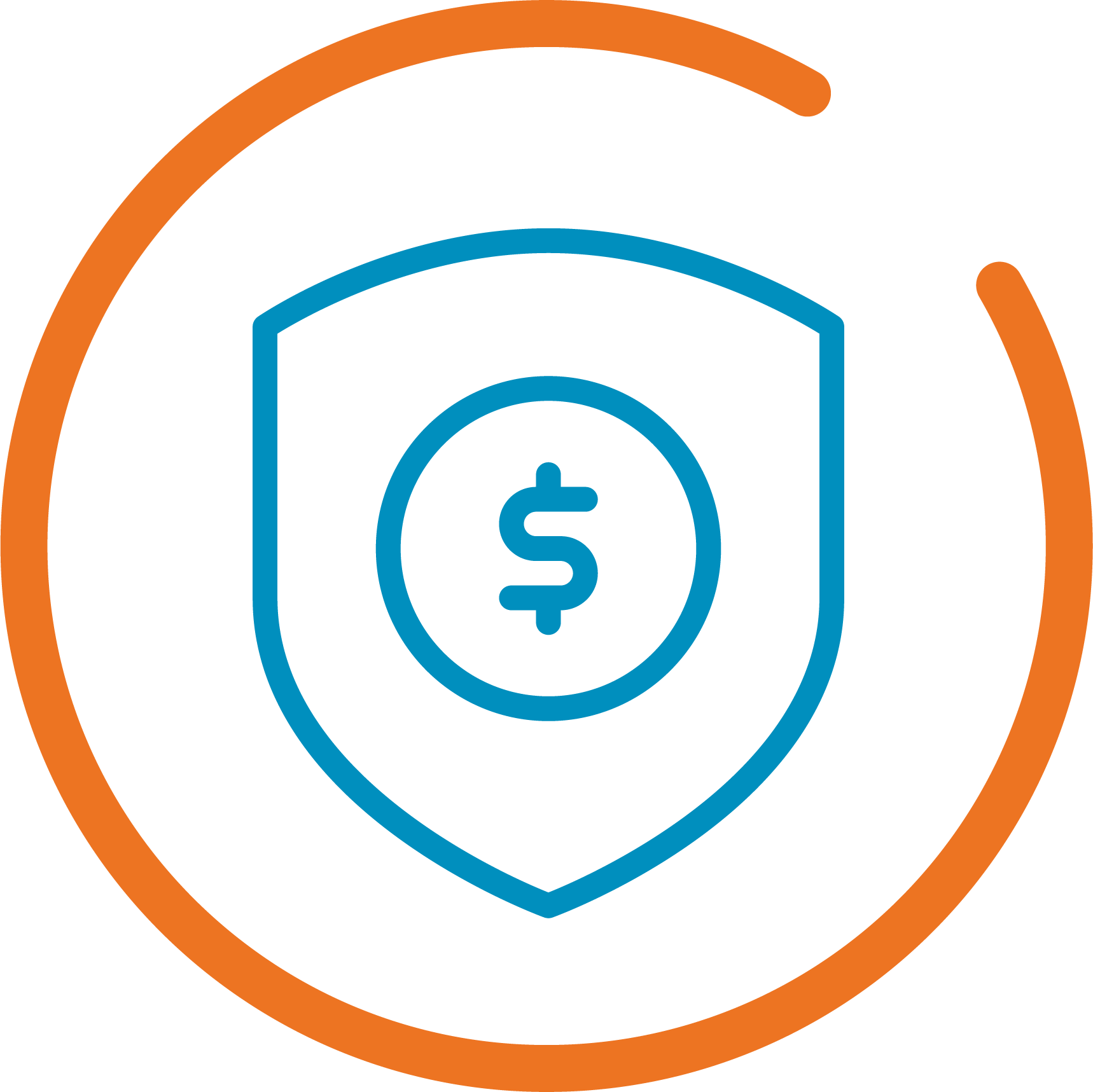 icon of secure money