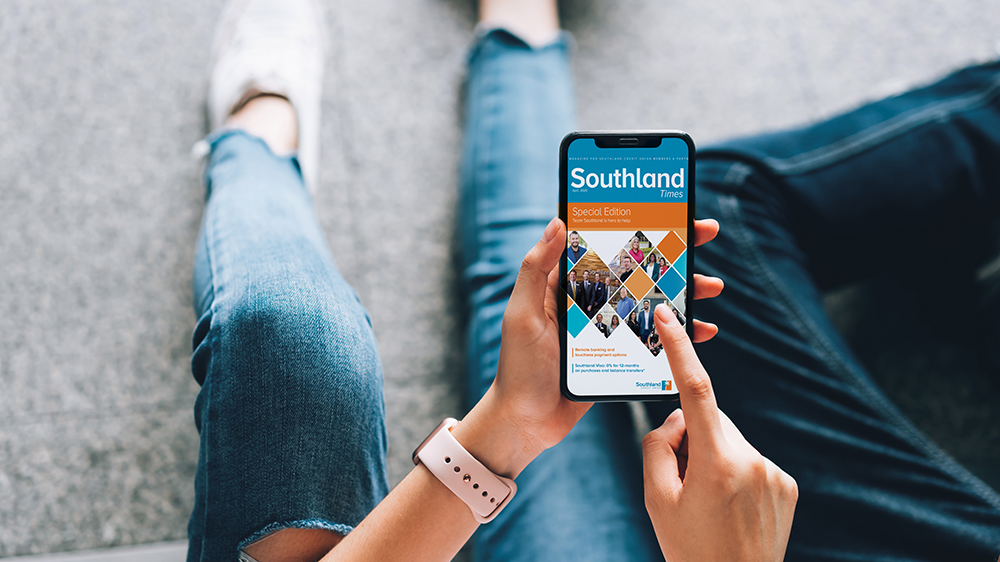 woman using southland app