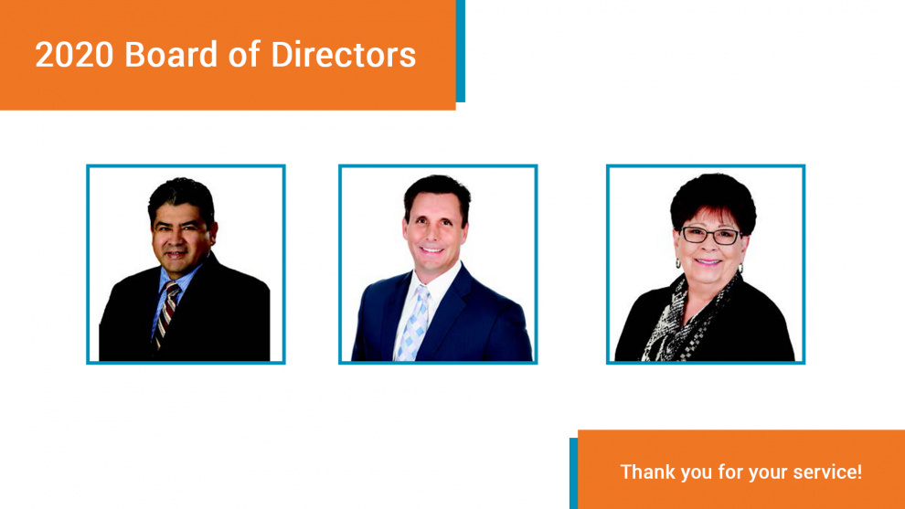 2020 board of directors. Thank you for your service!